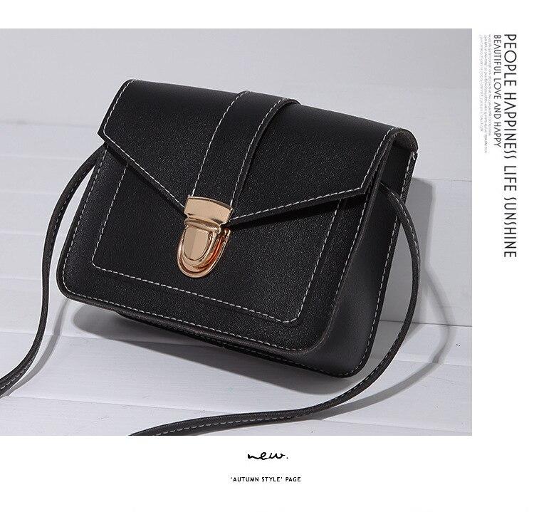 H35b19ffc93534dbabf6bb9b11ad05465q Fashion Small Crossbody Bags for Women 2019 Mini PU Leather Shoulder Messenger Bag for Girl Yellow Bolsas Ladies Phone Purse