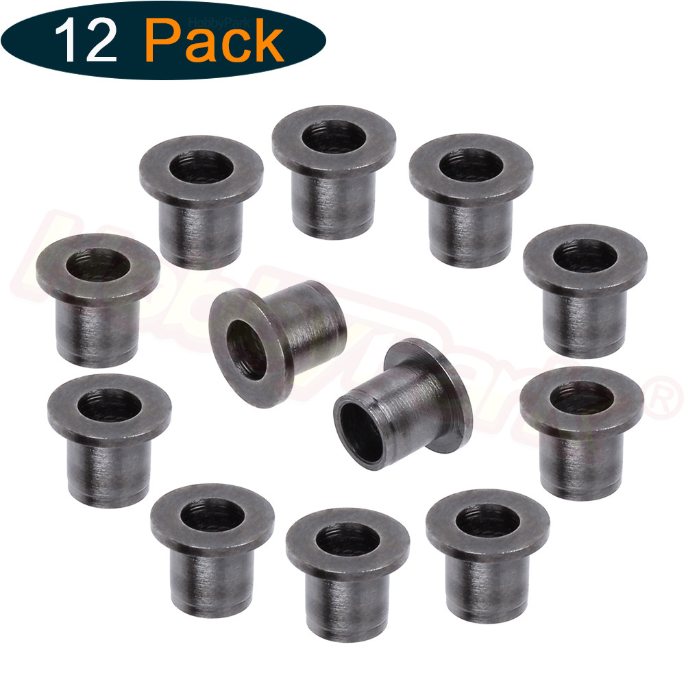 12 Pieces Metal 2.5mm Inner Diameter Bushings For WLtoys 1/18 A959 A969 A979 K929 A959B A969B A979B Remote Control Car