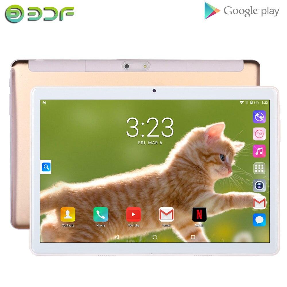 BDF NEW Original Tablet Dual SIM Card 1GB RAM 32GB ROM 10 Inch PC Android 7.0 Quad Core Tablets 10.1 IPS GPS Google Tab IPS FM