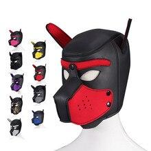 Masques de fête pour chiot, masque à capuche pour chien, rembourré en néoprène, jeu de rôle en caoutchouc, masque de Cosplay d'halloween, jouet sexuel pour couple, Flirt