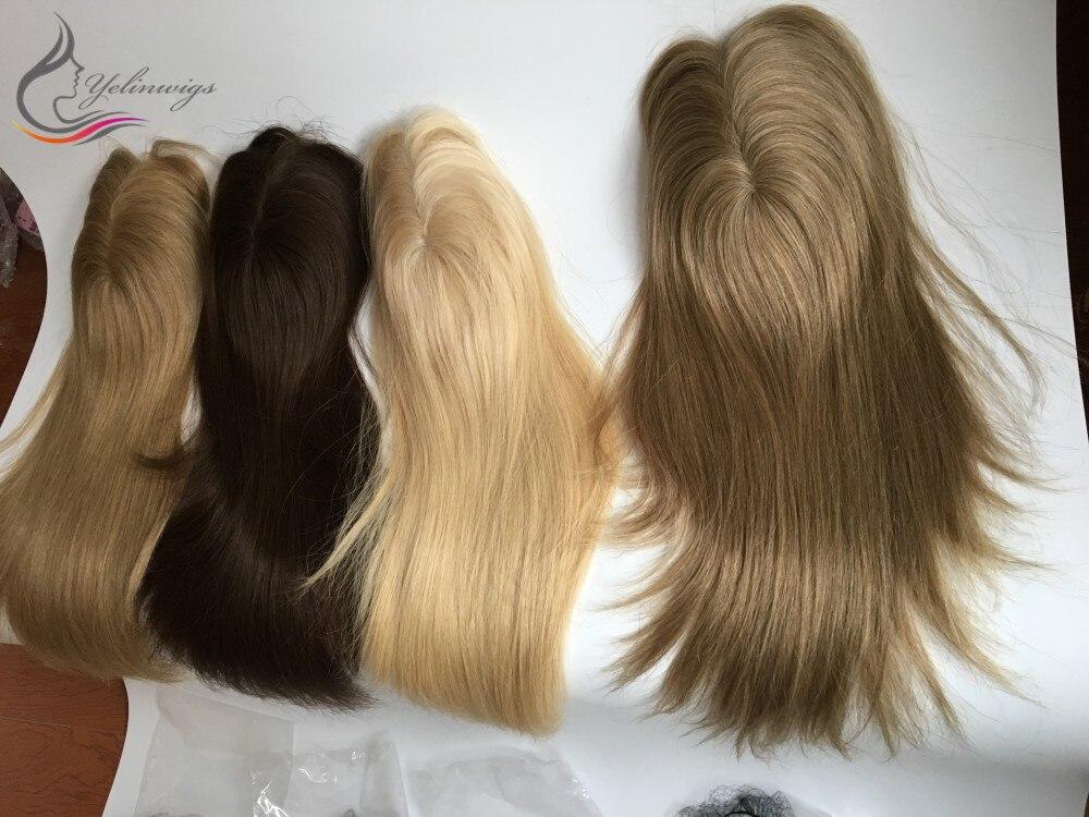 topper melhor mono base peças de cabelo humano