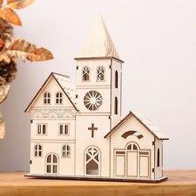 Свет деревянный дом светящиеся орнаменты светодиодный Рождественский церковный ночник идеальный подарок лампа вечерние поставки мини креативный