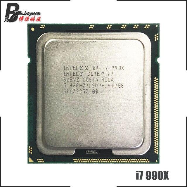 인텔 코어 i7 990X 익스트림 에디션 i7 990x3.4 ghz 6 코어 12 스레드 cpu 프로세서 12 m 130 w lga 1366