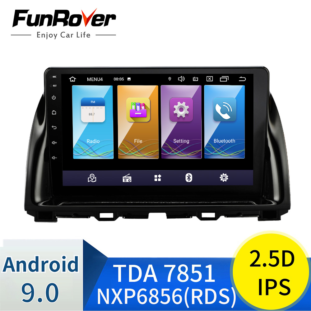 Funrover android 9.0 2.5D+IPS car dvd For <font><b>Mazda</b></font> <font><b>CX5</b></font> CX-5 CX 5 2013-2016 car radio multimedia player stereo vedio gps <font><b>navigation</b></font> image