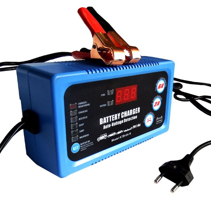 6V 12V Smart Car Motorcycle Battery Charger Full Automatic 2A 6A Lead-Acid AGM GEL Dry Batteries Power Charging Tool 6 V 12 Volt