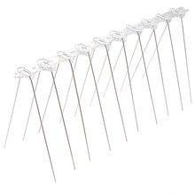 1 adet paslanmaz çelik 25cm kuş kovucu Spikes Anti güvercin tırnak kuş caydırıcı aracı güvercinler için baykuş küçük kuşlar çit