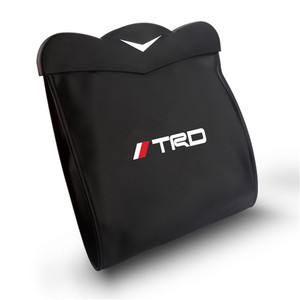 1X caja de almacenamiento de bolsa de basura para asiento trasero TRD para Toyota Prado Reiz Yaris 86 Mark X Camry Crown Alphard PU cuero organizador de asiento trasero