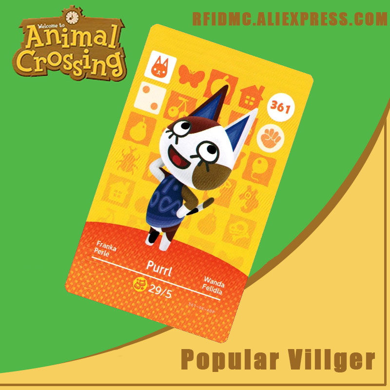 361 Purrl Animal Crossing Card Amiibo For New Horizons