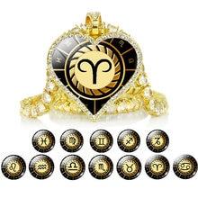 Симпатичная подвеска Сердце ожерелье 12 знаков зодиака Созвездие