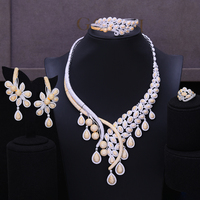 GODKI Luxury Phoenix Peacock Africa 4PCS Jewelry Set Wedding African Beads Bridal Jewellery Set Cubic Zircon Ethiopian Jewelry