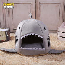 CANDY KENNEL Soft Shark Shape Pet Dog Cat Bed Puppy Houses Lovery Warm Doggy Kennel D0023