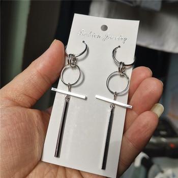 1 Pair KPOP DNA Korean V Earrings stainless steel Long Men Bangtan Boys Stud Earring For Women Men Album Accessories
