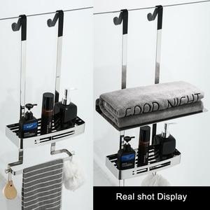 Image 5 - Bathroom Shower Shelves 2 Layer Shampoo Holder Bath Storage Towel Hanging Bathroom Stainless Steel Polished ELM330