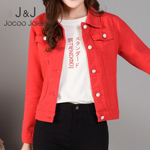 Korean Denim Jackets for Women Autumn Streetwear Pockets Button Single Breasted