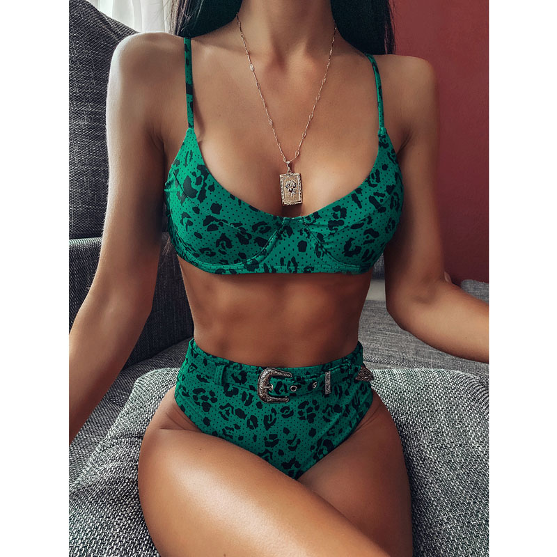 Push Up Bikinis 2020 High Waist Bikini Set Leopard Women Swimsuit Female Sexy Swimwear Women Bathing Suit Brazilian Biquini Sexy
