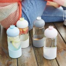 Cute Water 350 ml Bottle  Tea Crystal Strawberry Milk Hydro Flask Juice Jug