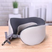 Home U-Shape Neck Protective Pillow Memory Cotton Soft Cushion U  Air Travel Rest Flight Head Portable Free Shipping