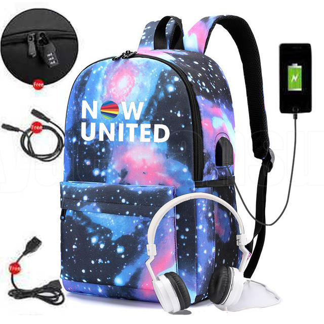 NOW UNITED THEMED BACKPACK (10 VARIAN)