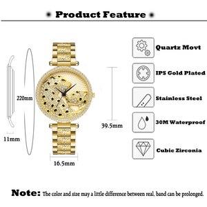 Image 3 - MISSFOX Women Watch Women Fashion Designer Brand Luxury Women Wrist Watch Gold Leopard Clouds Diamond Ladies Watch Quartz Clock
