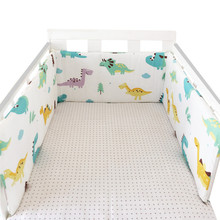 цена на 1PCS Baby Crib Cotton Bumpers In the Crib For Newborn Cotton Linen Cot Bumper Baby Bed Protector Grey Stars Print Kids Bedding