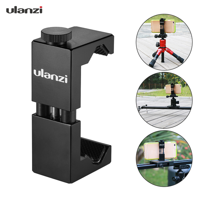 Ulanzi Metal Smartphone Clip Holder Frame Case Bracket Mount for iPhone for Huawei Samsung Portrait Outdoor Video Photography
