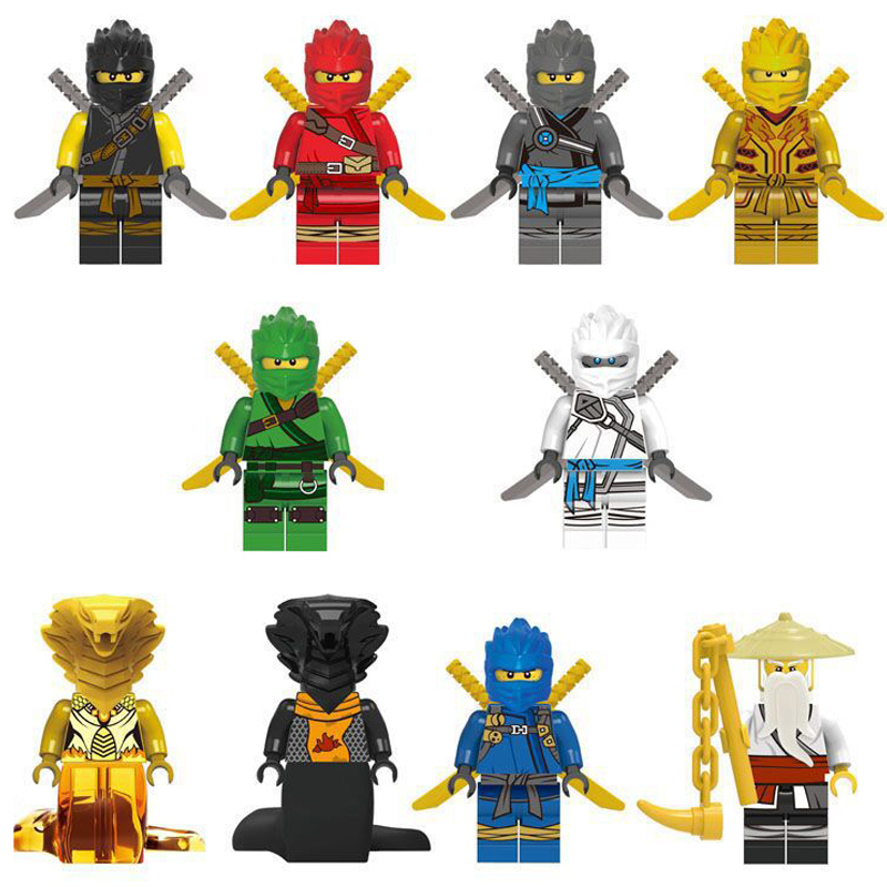 1pc LegoINGYLS Ninjagoingly Mini Action Figures Blocks Frakjaw Garmadon Jay Zane Kai Lloyd Building Block Toys For Children Gift