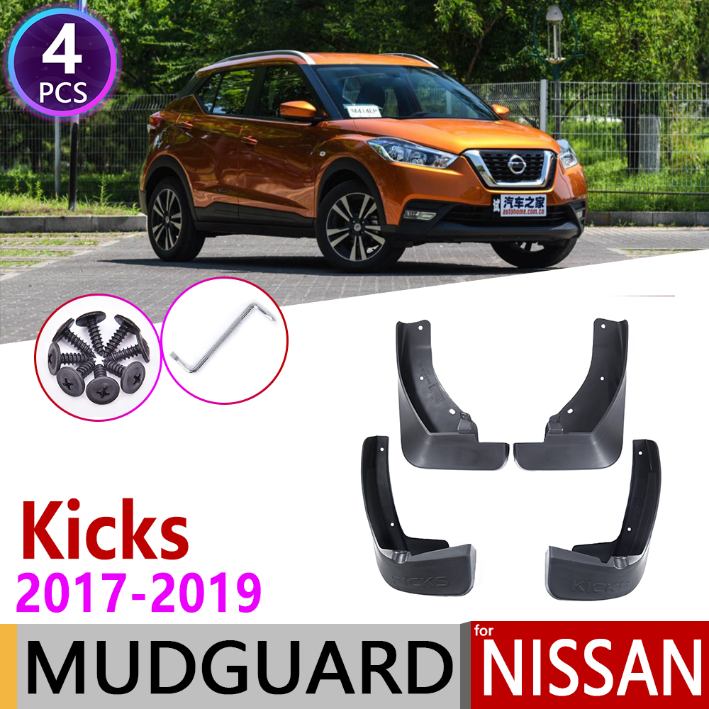 4 PCS For Nissan Kicks 2017 2018 2019 P15 Front Rear Car Mudflap Fender Mud Flaps Guard Splash Flap Mudguards Accessories