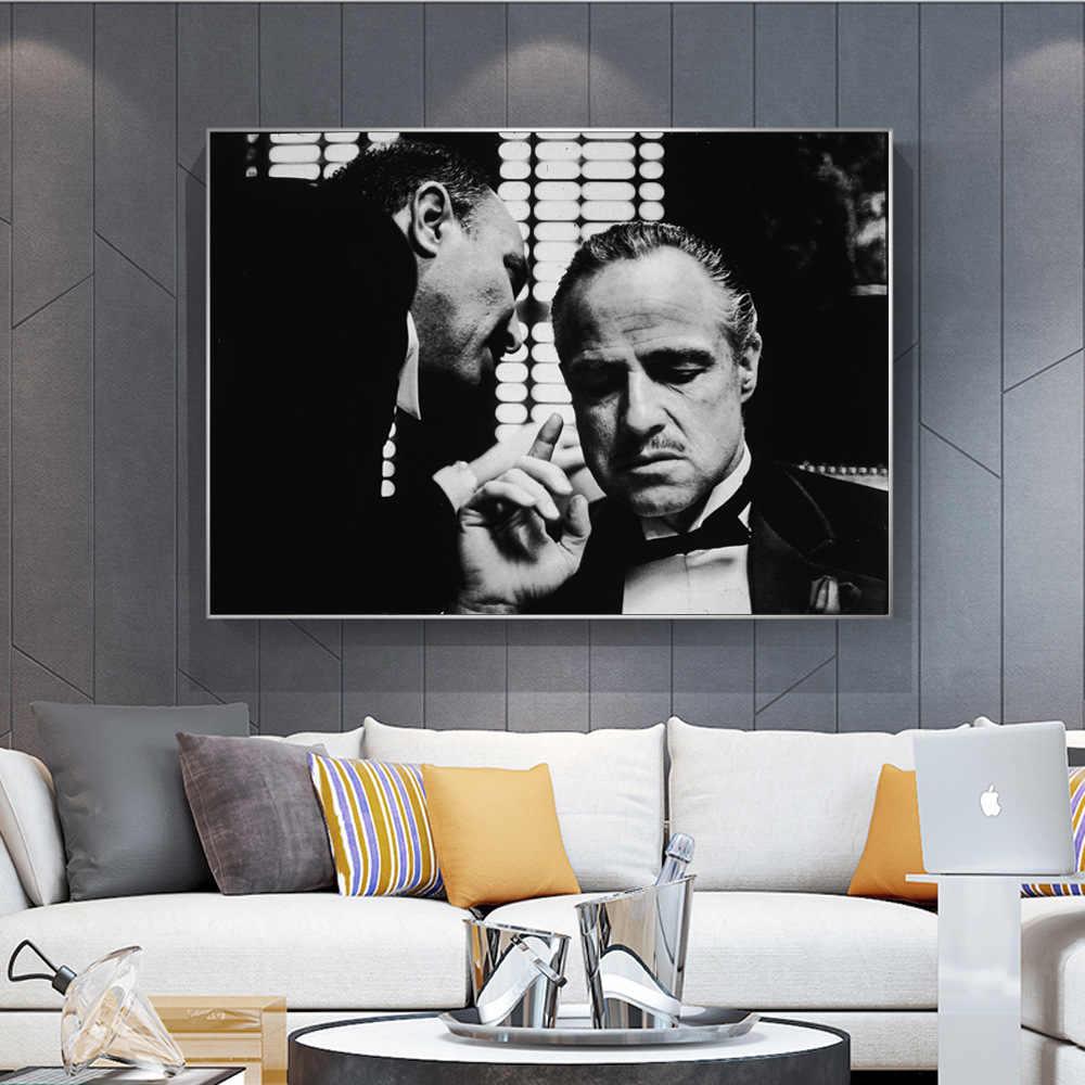 סנדק פוסטר מרלון ברנדו הדפסת שחור ולבן סרטי תמונות קירות אמנות בד ציור ללא מסגרת ציורי קיר ציור קיר סרט