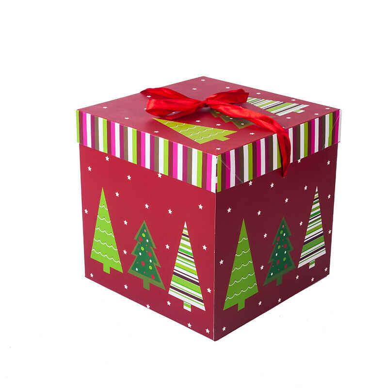 חדש 2020 ערב חג המולד אריזת מתנה חג המולד מפלגה הנוכחית לטובת אריזת מתנה יפה כיכר סוכריות תיבת חג המולד מסיבת יום הולדת דקור