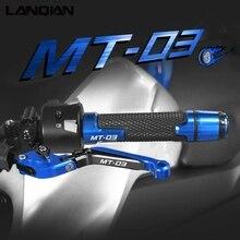 Dla Yamaha MT03 akcesoria motocyklowe dźwignie sprzęgła hamulca i uchwyty kierownicy MT 03 MT 03 2005 2019 2015 2016 2017 2018