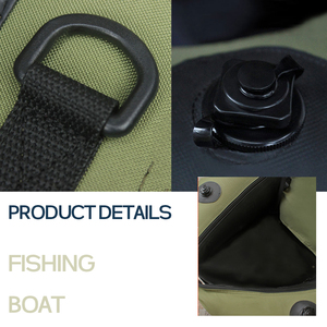 Image 4 - 1 person fishing boat double airbag safety easy to carry rubber boat professional Luya inflatable fishing boat by FISHINGCAT