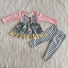 Children Clothing Outfit Boutique Wholesale Kids Shirt Pants Legging Toddler Baby-Girl