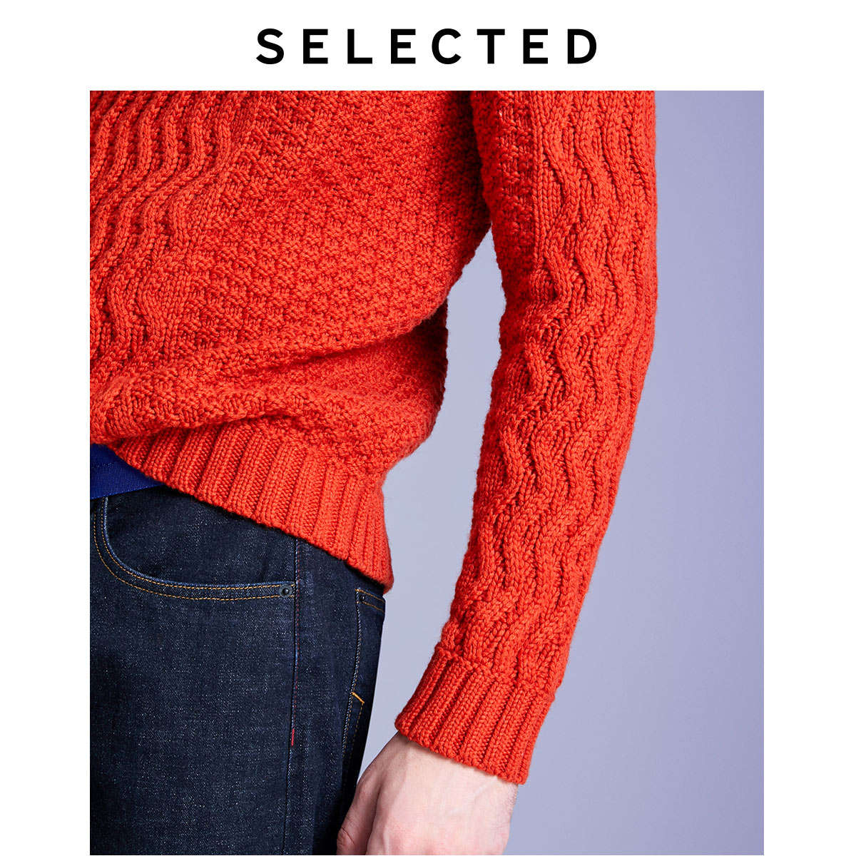Image 4 - SELECTED Men's Autumn & Winter High necked Woolen Knitted Sweater L419424551-in Pullovers from Men's Clothing