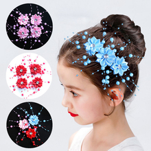 цена на Bridal Crystal Pearl Flower Hair Clip Hair Jewelry Wedding Hair Accessory Girls Gypsophila Flower Hairpin Headwear