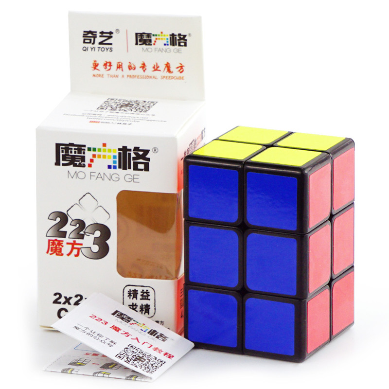 QiYi Mofangge 2x2x3 Magic Cube 223 White/Black Speed Puzzle Cubes Kids Educational Funny Toys For Children