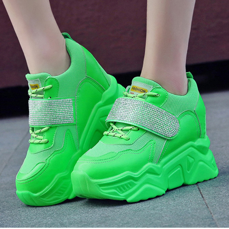 Platform Sneakers Woman PU Leather High
