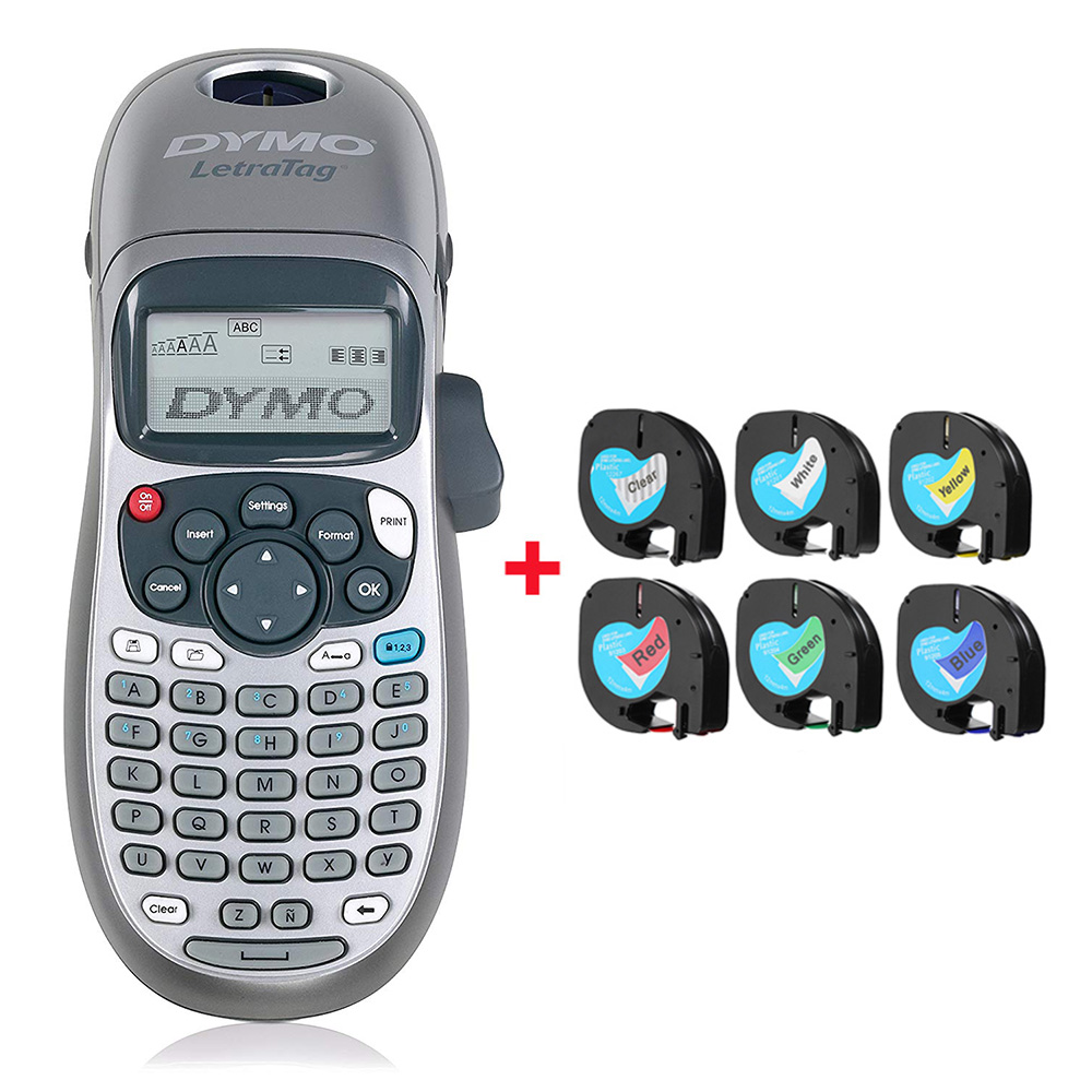 Original Dymo label printer LT-100H portable printing machine with LetraTag tape label maker printer for LT 12267 91201 91202