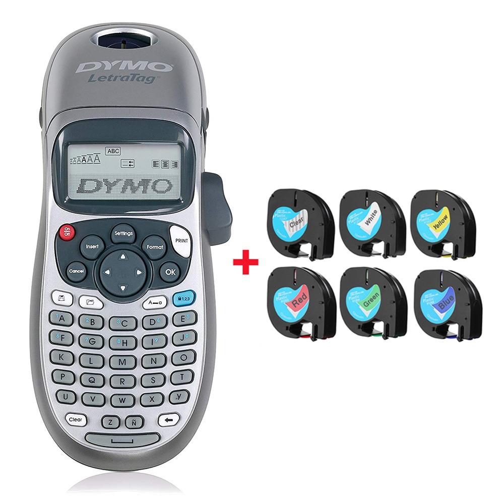 Original Dymo label printer LT-100H portable printing machine with LetraTag tape label maker printer