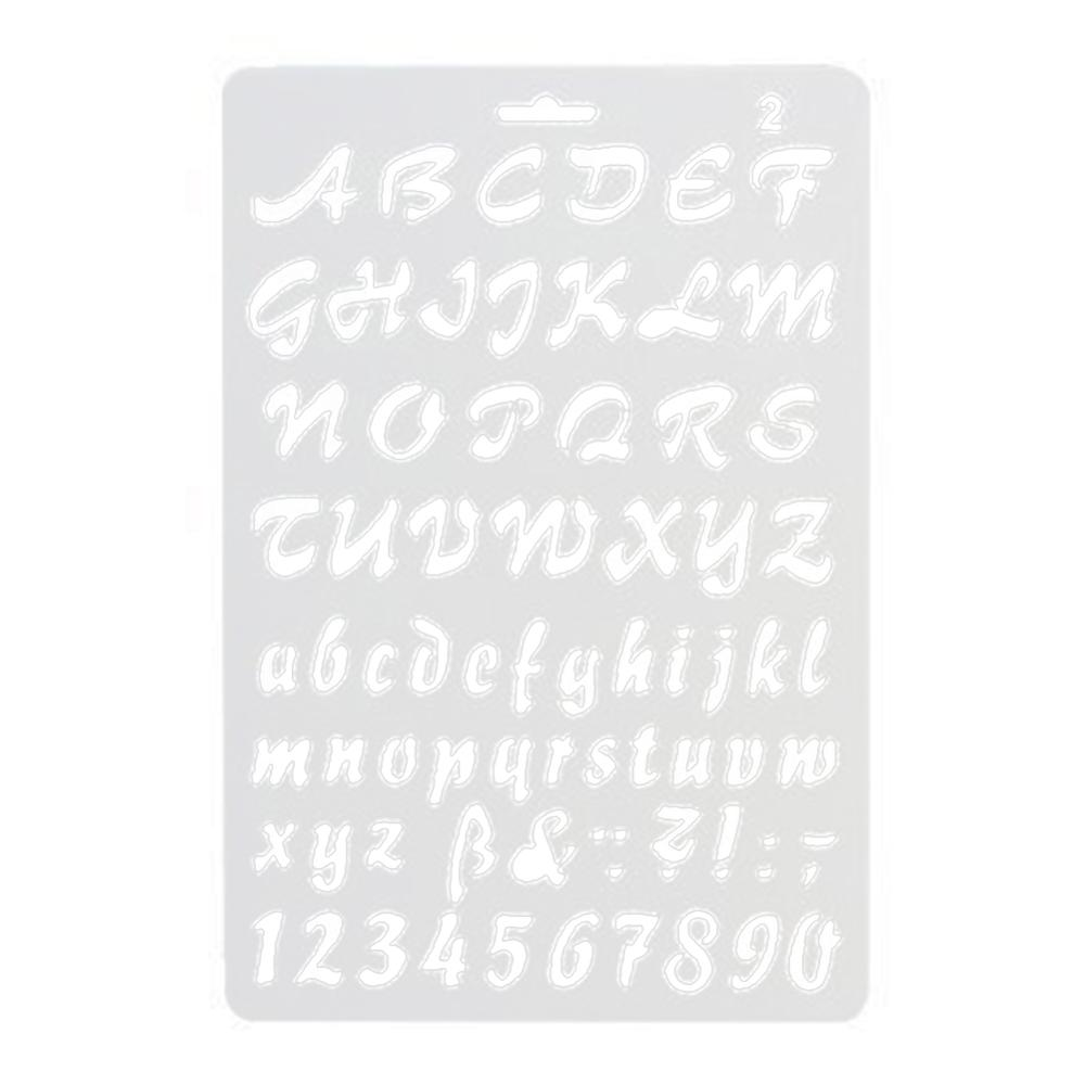 New English Alphabet Number DIY Scrapbook Drawing Template Measuring Ruler Stencil