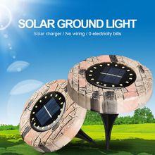 Uds las luces solares del jardín impermeable al aire libre camino cubierta luces LED camino piso lámpara enterrada jardín paisaje luces subterráneas