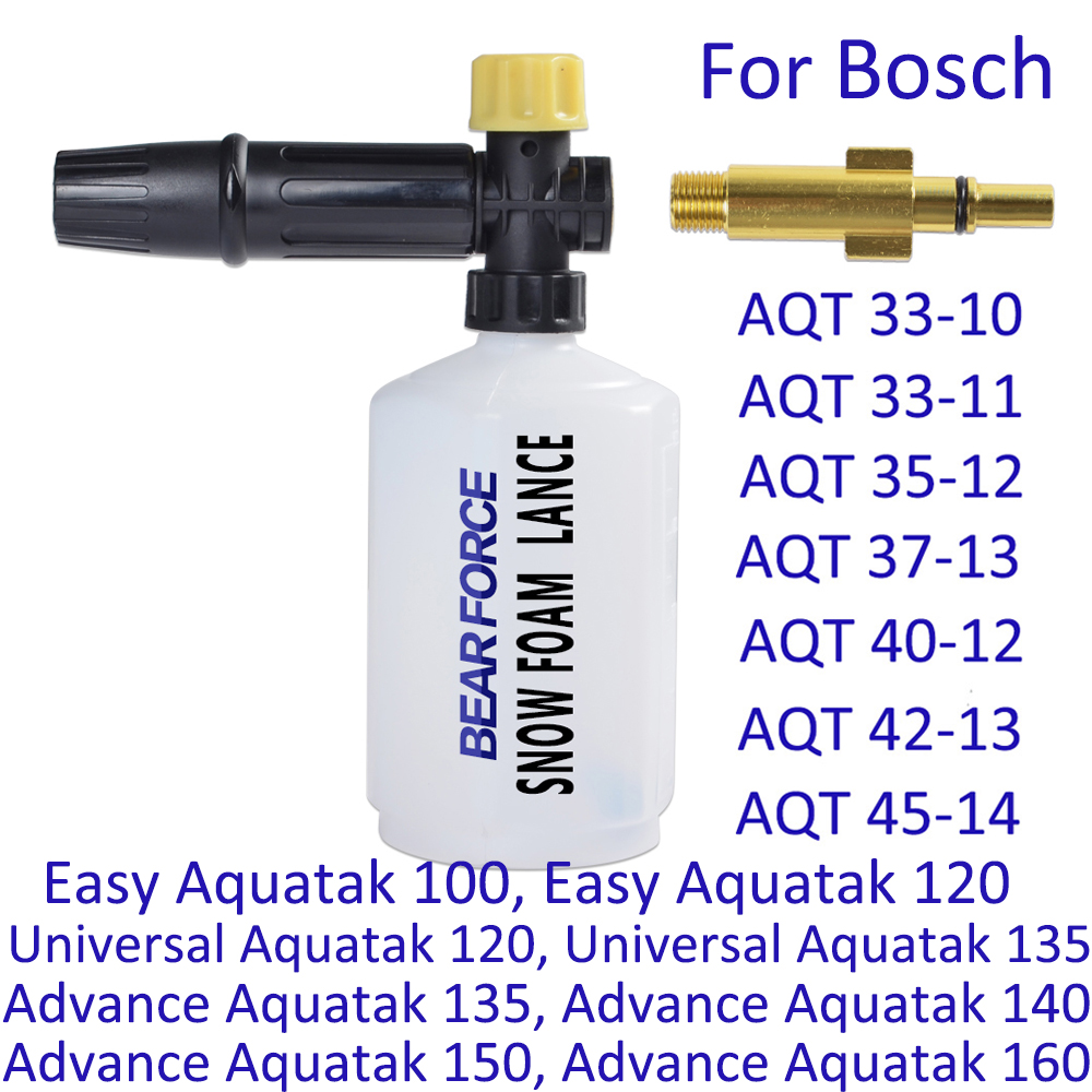 Car Washer Snow Foam Lance Foam Generator Soap Foamer Car Foam Wash Sprayer Foam Gun Nozzle Maker For Bosch High Pressure Washer