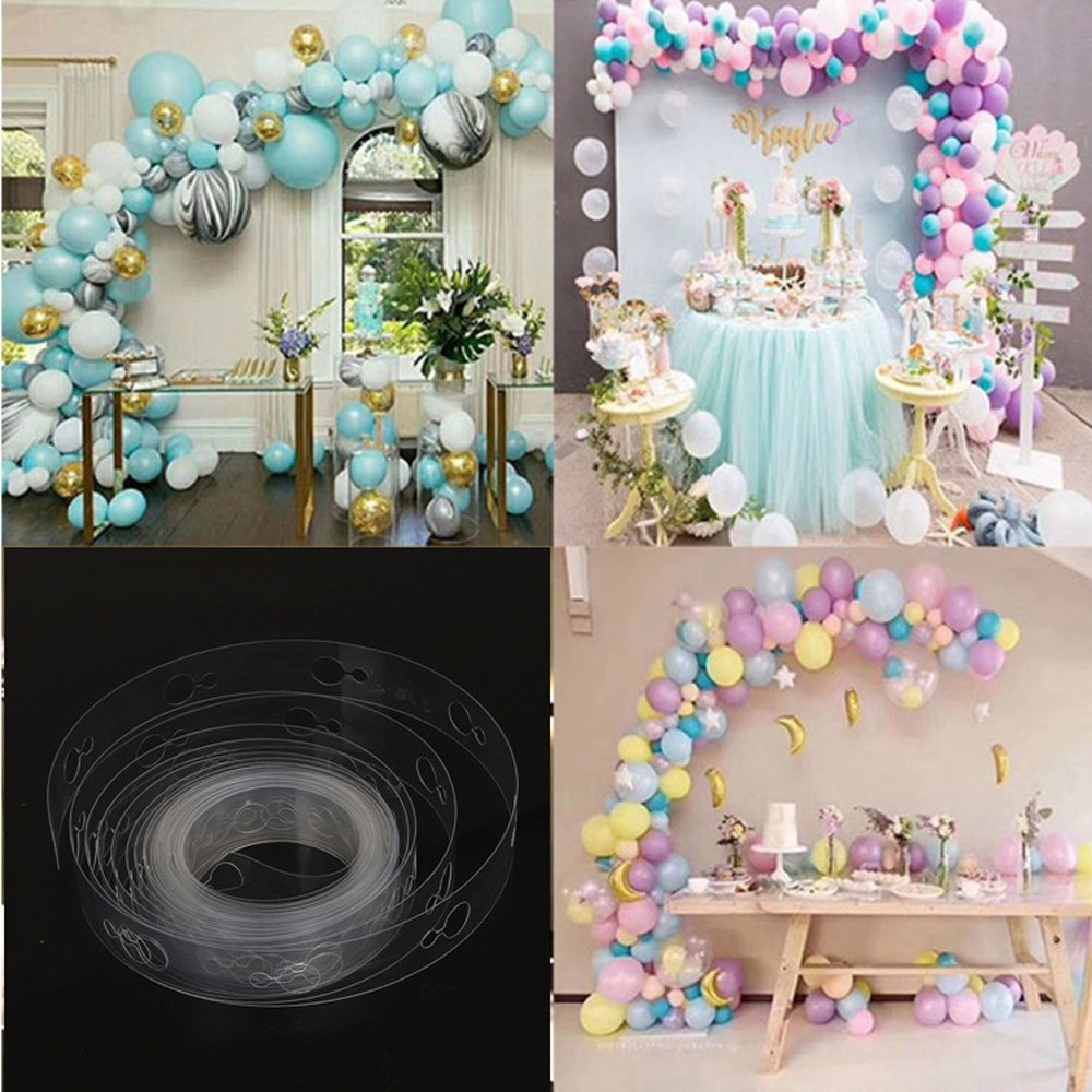 5M Transparent Soft Arch Balloon Chain Wedding Decoration Birthday Party Decor