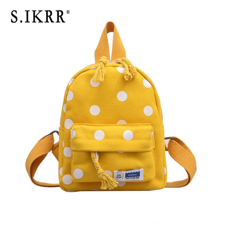Girls Backpacks Students-Bag Campus Candy-Color S.IKRR Small Women Teenage Casual Child