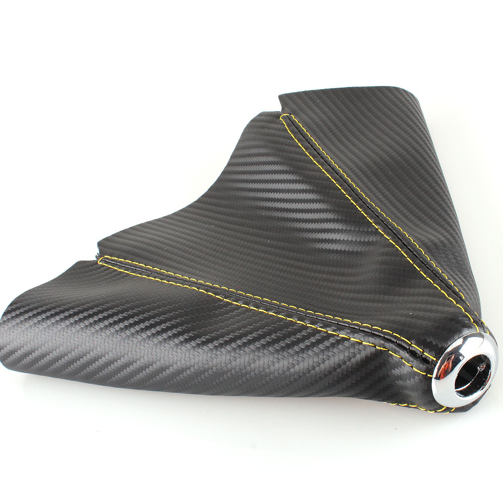Car Carbon Leather Manual Gear Shift Knob Boot Universal Vehicle Gear Shift Collars Knob Boot Dust Cover