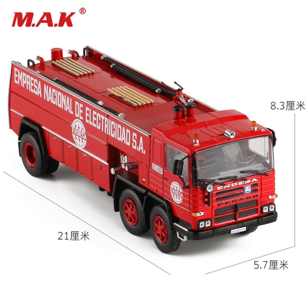 PEGASO ENDESA  1/43 Diecast Alloy Fire Truck 1980 SALVAT Empresa Nacional Model For Fans Children Gifts