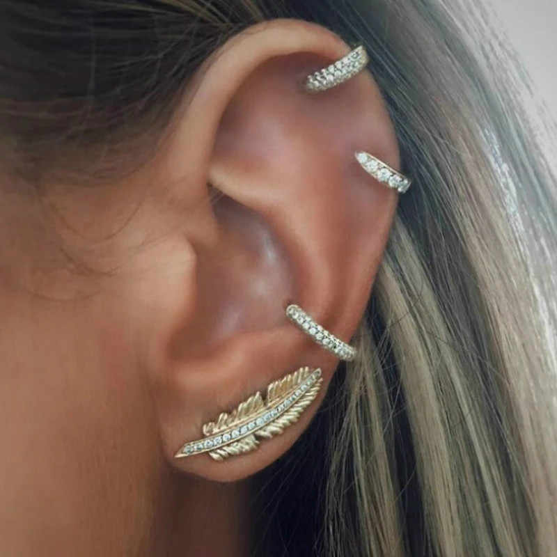 1 Set Sell Fashion Women Circle Metal Bohemian Clip Earringss for Women Personality Suit Jewelry