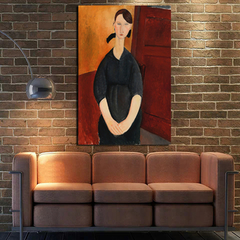 Prints Painting Amedeo Modigliani Modular Pictures Canvas Wall Art Home Decor Portrait of Paulette Rudan Modern Office Poster image