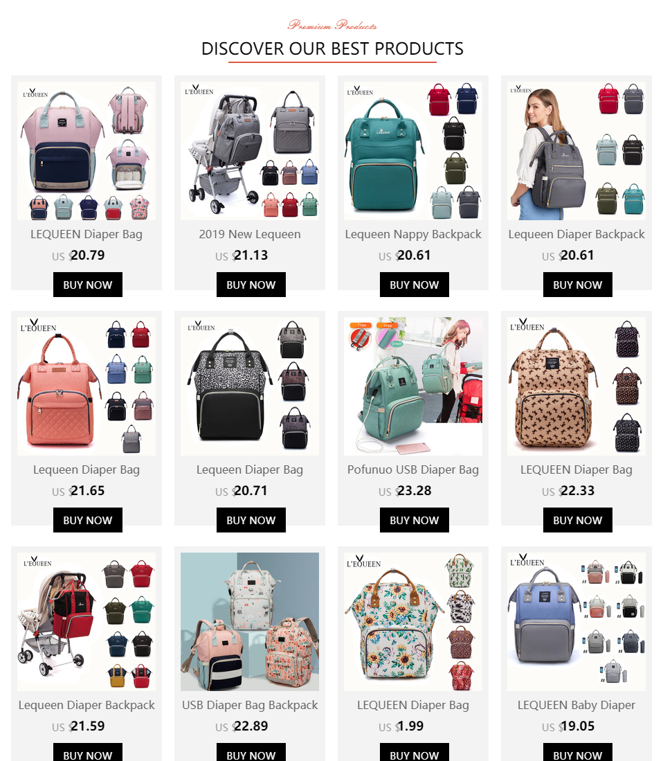 H35b48438a4904ee0ae3355c307d6340fL LEQUEEN USB Diaper Bag Baby Care Backpack for Mom Mummy Maternity Wet Bag Waterproof Baby Pregnant Bag