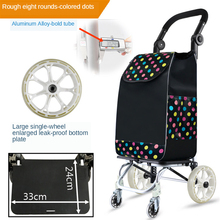 Grocery Carts Heavy Duty with Wheel Foldable Removable Push Bag Condo Apartment Picnic Beach Travel Pull Utility Folding Trolley