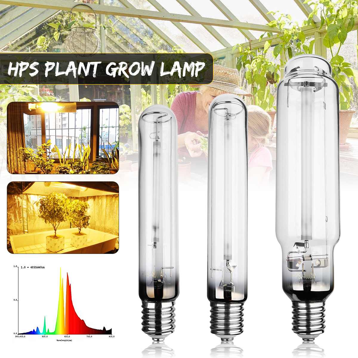 HPS Plant Grow Lamp E40 Grow Light Bulb Ballast For Sodium Bulb Indoor Plant Growing Lamps Higth Pressure 400/600W/1000W